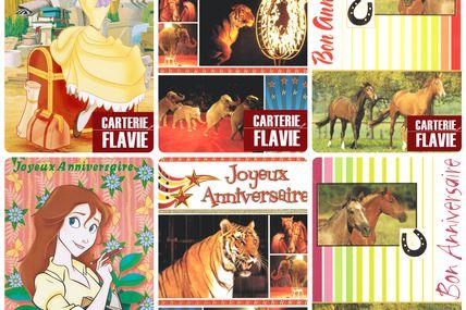 Nouvelles cartes d'anniversaire