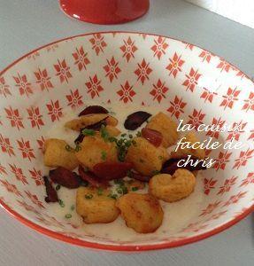 gnocchis au chorizo et crème de parmesan