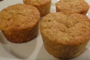 Muffins moelleux aux flocons d'avoine et à la pomme