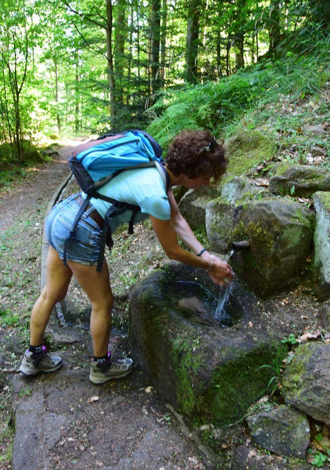 Lucie Fresnay, native de Mutzig aimait se promener au Mont. Elle passait souvent près de cette source qui coule dans un receveur de grès ovale. La végétation l'avait partiellement recouvert. Un jour, Lucie fit rénover la fontaine ainsi que la rigole qui menait jadis l'eau vers le prieuré de St Gorgon. La fontaine porte aujourd'hui son nom