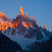 Alpenglow and Jagged Shadows on Cerro Torre, Argentina© Richard Bernabe