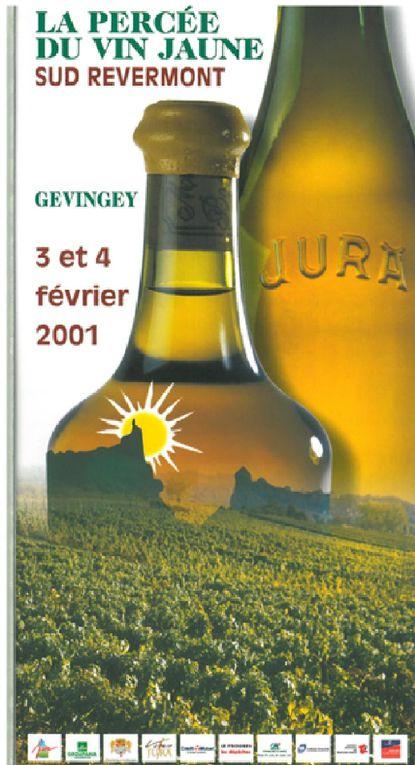 Les affiches des différentes percée du vin jaune