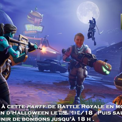 Invitation 12 ans Mini loup : Fortnite
