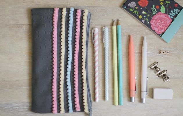 Trousse et galon pompons {DIY}