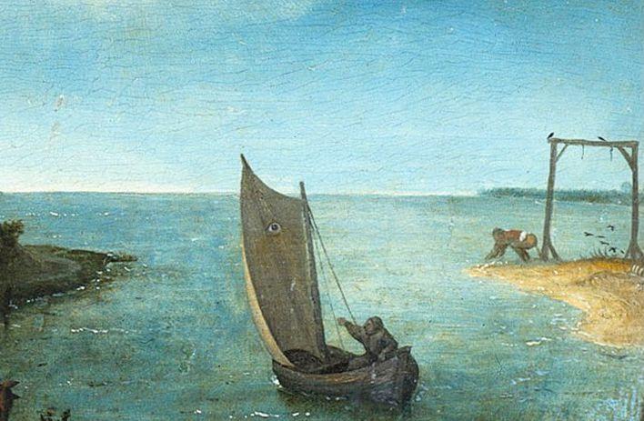 """Pieter BRUEGEL  """"La Huque bleue"""" - Janvier 2021"""