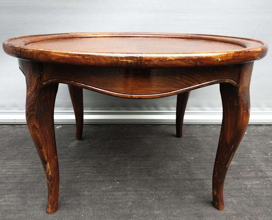 Table basse guéridon vintage style Louis XV - 120 euros