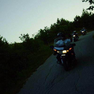 Goldwing Unsersbande - en route vers les lacs de Plivitce en moto (1ère partie)