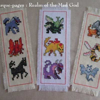 3 ème Marque pages à broder: Realm of the Mad God