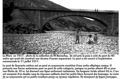 La Mure : un peu d'histoire en image :  le pont de 40 mètres