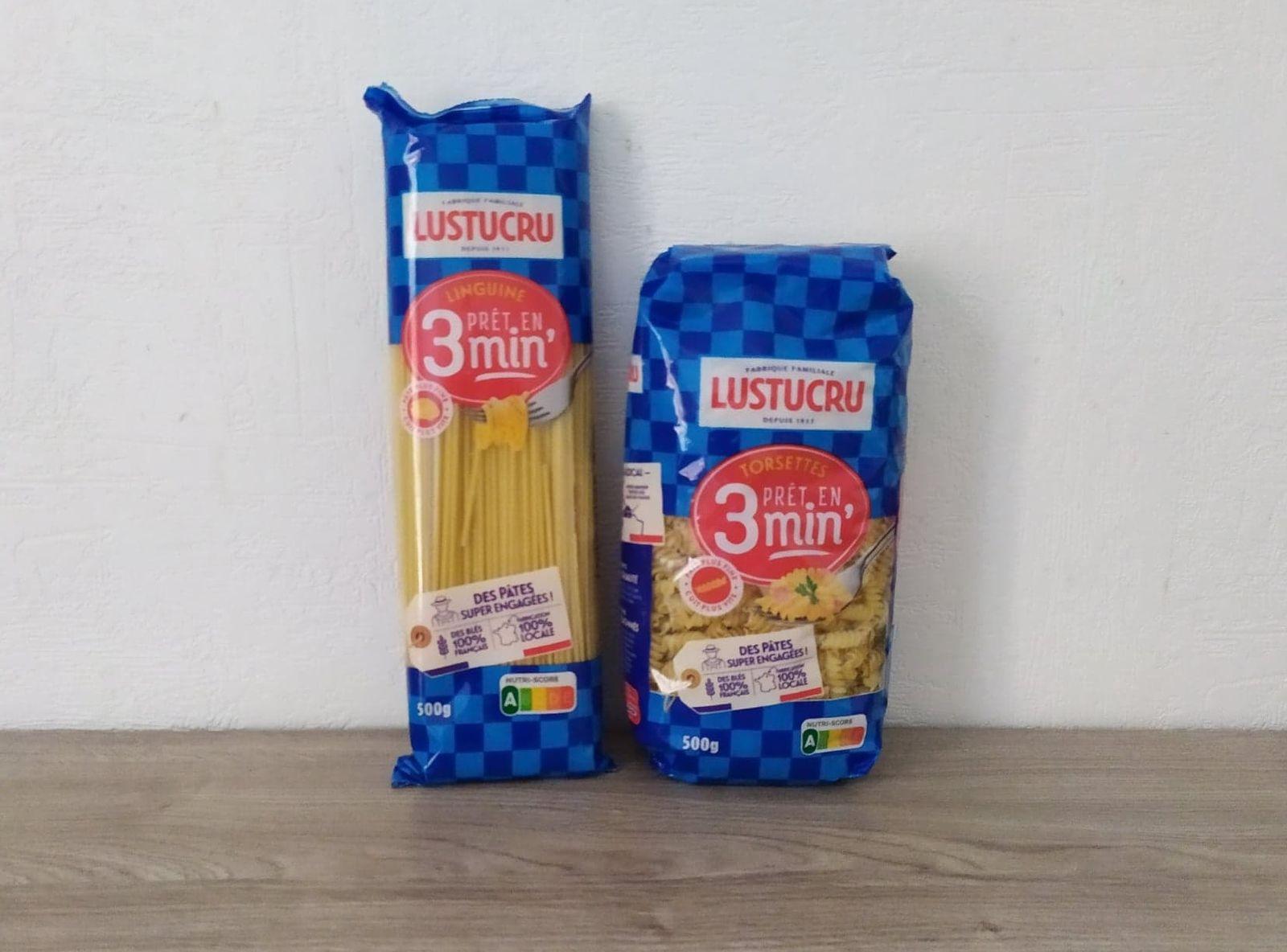 2 paquets de pâtes 3 minutes LUSTRUCRU