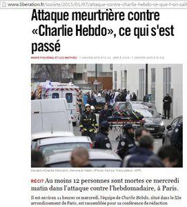 Massacre au journal  : épouvantable !  Nous sommes tous des journalistes de Charlie Hebdo