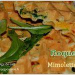 Gaufres salées Roquette Mimolette