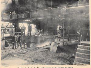 La Société Métallurgique de Knutange (S.M.K.) à Algrange, au début des années 1900