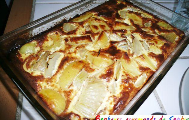 Gratin pommes de terre et fenouil