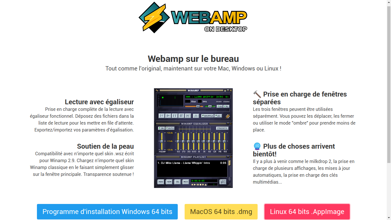 WEBAMP : Le lecteur de musique pour se souvenir !