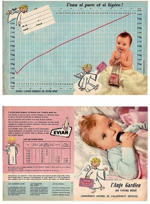 PUBLICITES : LES BEBES ET LES ENFANTS  DANS LES ANCIENNES PUBLICITES... SUITE 2