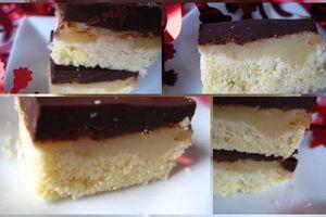 Carrés au caramel et au chocolat