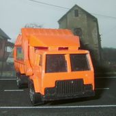 RECYCLING TRUCK HOT WHEELS 1/64 - CAMION POUBELLES - car-collector.net
