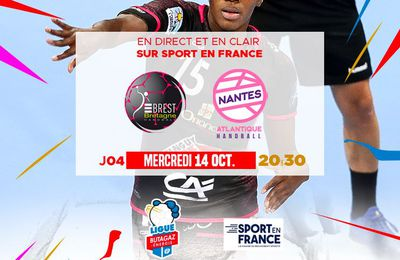 Brest / Nantes (Ligue Féminine Handball) en direct ce mercredi sur Sport en France !