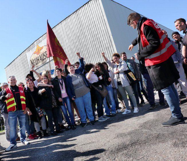 Les Neuhauser en grève lors d'un conflit en 2018 / Crédits photo : Le Républicain Lorrain - Thierry Sanchis