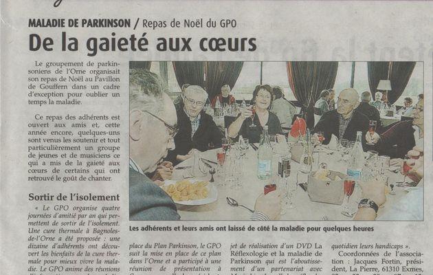 Noël du GPO au Pavillon de Gouffern article Journal de l'Orne