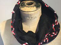 motif noel sucre d'orges enfant col fourré écharpe DIY sur charlotteblablablog