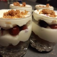 Verrine ricotta mascarpone express (fruits rouges)