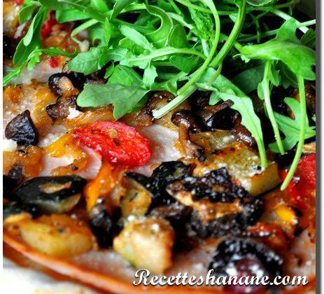 Recette pizza aux légumes du soleil