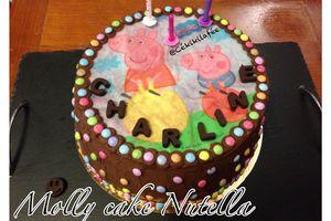 Molly cake nutella Peppa Pig