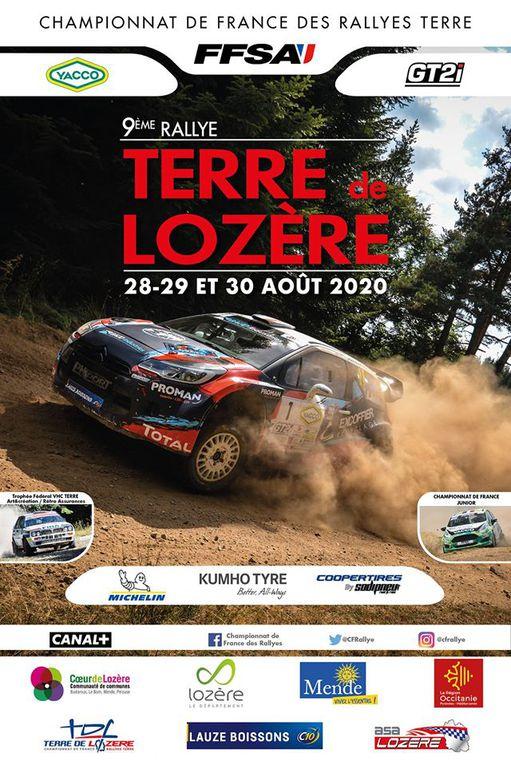Calendrier du championnat de France  des rallyes sur terre 2020