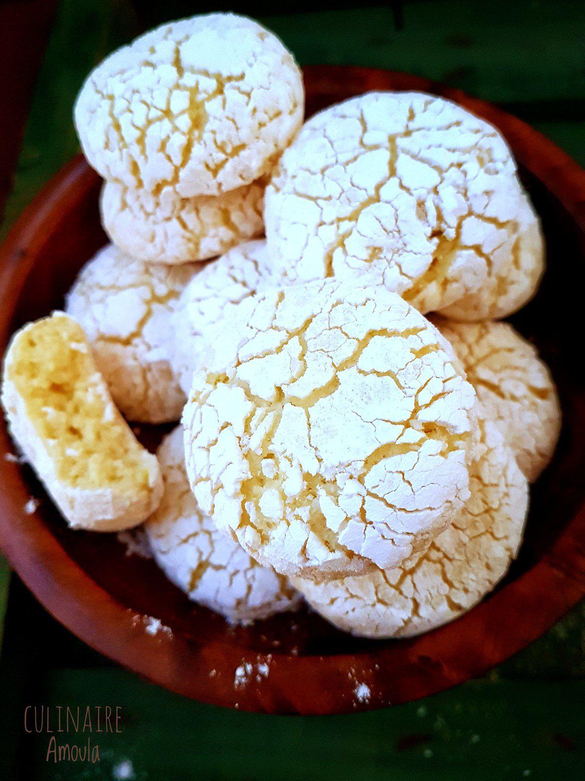 Ghriba au citron et à la noix de coco