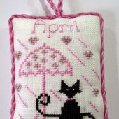 Happiness is Cross Stitching : Free April Mini Cat pattern now available