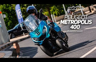 restyling peugeot metropolis scooter 3 roues