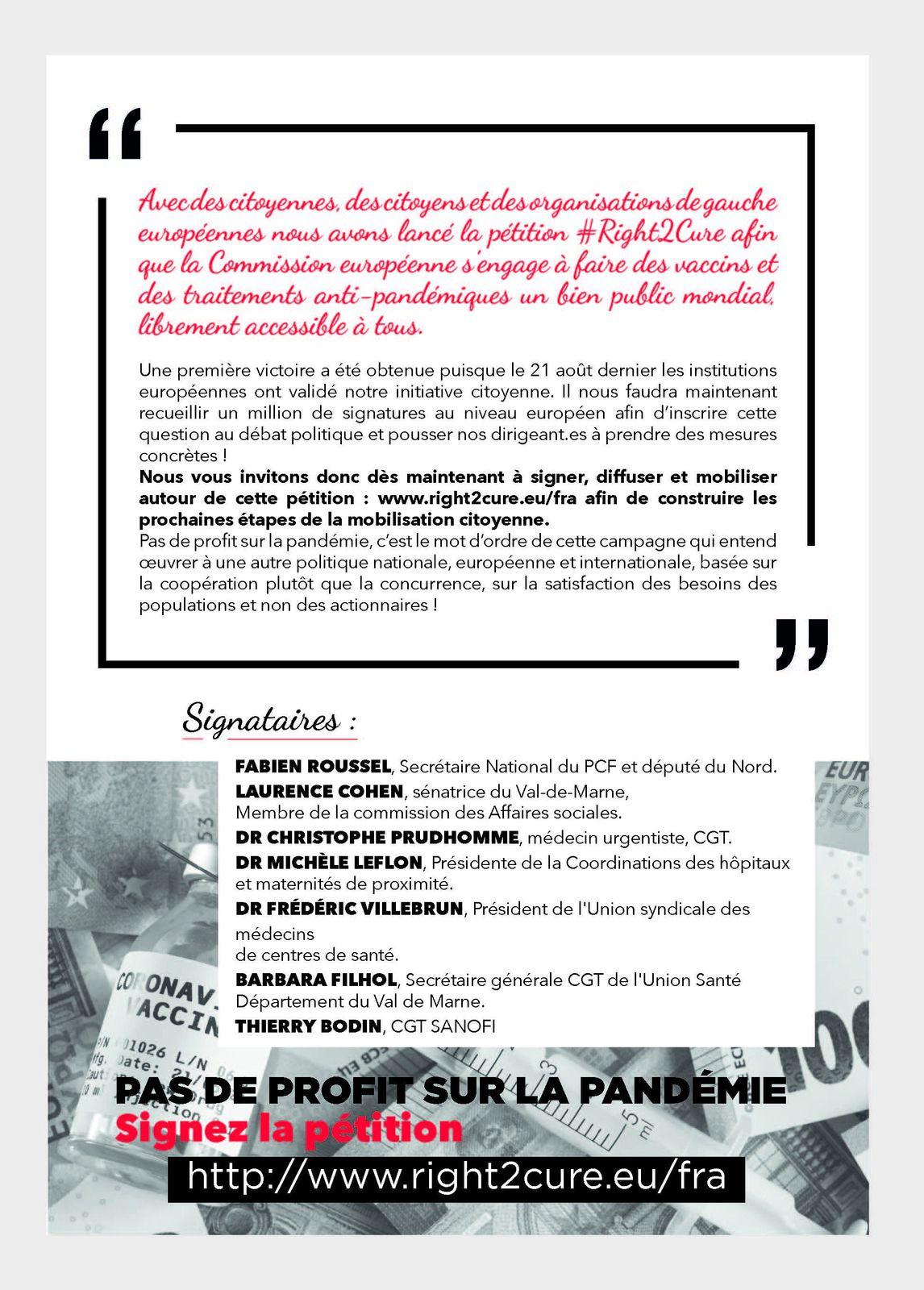 PCF - POUR SORTIR DE LA CRISE UNE SEULE SOLUTION : INVESTISSONS DANS L'EMPLOI, LA SECRURITE SOCIALE ET LES SERVICES PUBLICS