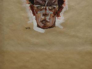 1910 - Autoportrait tête - cliquez sur les photos pour les agrandir