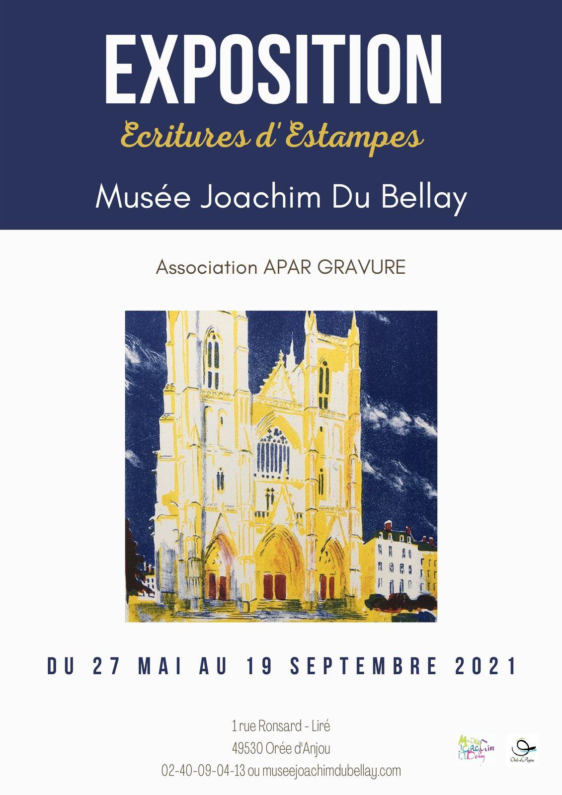 """EXPOSITION   """" Ecritures d'Estampes""""  27 mai - 19 septembre 2021"""