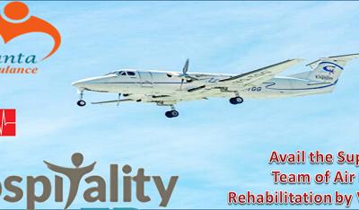 Emergency Medical Technician Support of Air Restoration with Vedanta Air Ambulance in Kolkata
