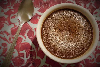 Crème au chocolat au lait concentré d'après ma Cop's : Oh, La Gourmande