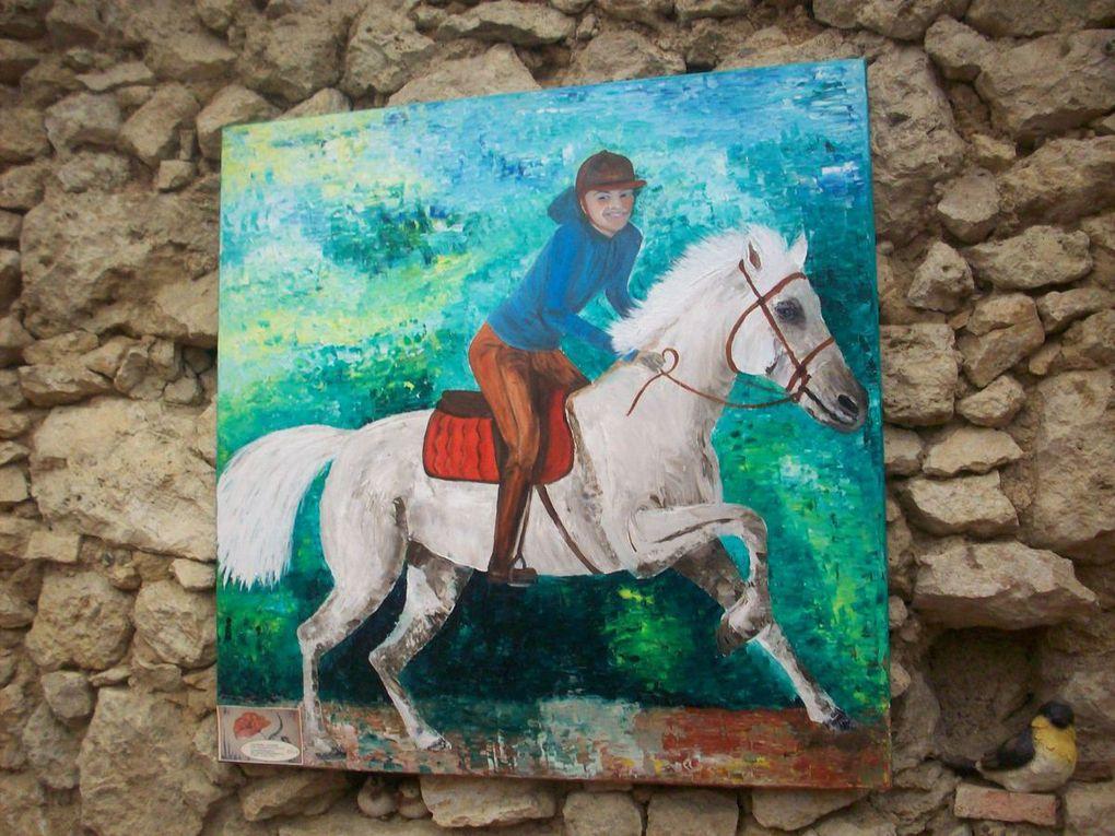 Le cheval à l'honneur en exposition au Jardin d'Aucoin...