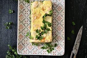 Terrine de saumon, saint-jacques, épinards