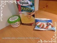 Toasts de polenta aux épinards frais