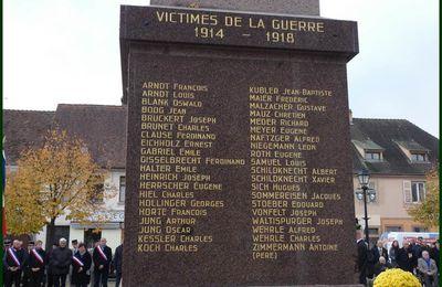 Cérémonie commémorative du 11 Novembre à Neuf-Brisach