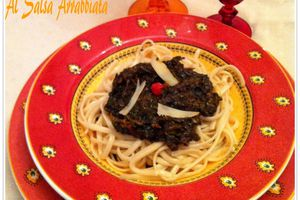 Paste agli spinaci al salsa Arrabiata