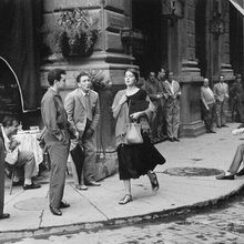 American girl in Italy invitation, Florence (1951) by Ruth Orkin