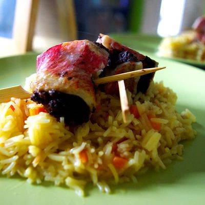 Rougets tapenade et riz pilaf