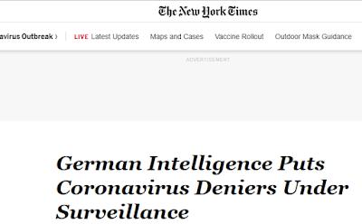 Post-democracia Covid: Alemania anuncia poner bajo vigilancia a quienes critican las medidas liberticidas