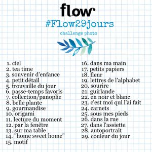 #flow29jours / Challenge Photo