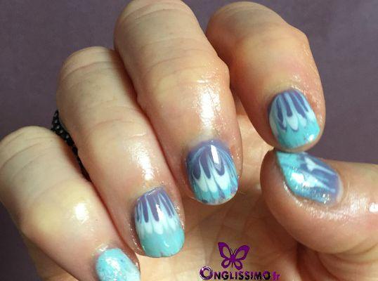Nail art Water marble avec semi permanent