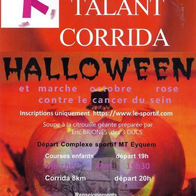 Samedi 31 octobre 2020 - Corrida Halloween - Talant - ANNULE