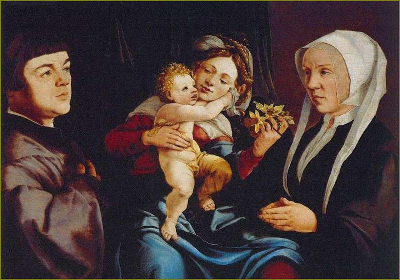 Jan van Scorel (1495-1562), - Madone aux jonquilles - ca.-1535 - Musée Thyssen - Madrid.